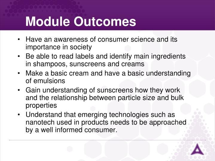 Module outcomes