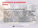 corporate governance definisi