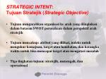 strategic intent tujuan stratejik strategic objective