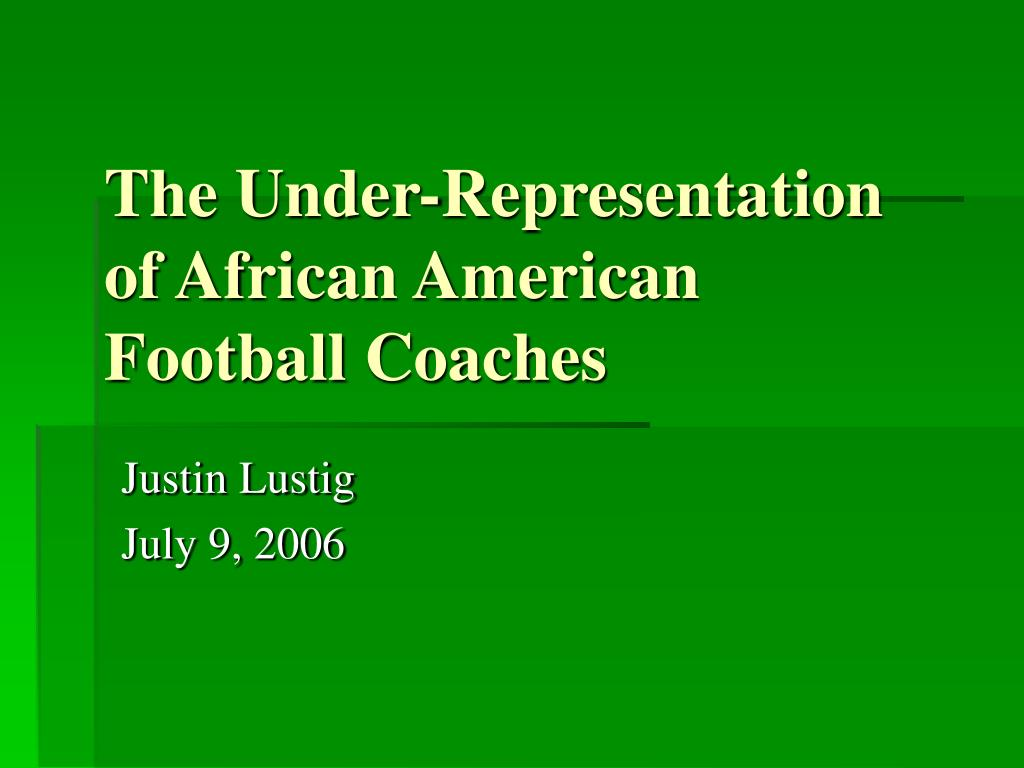 the under representation of african american football coaches l.