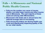 falls a minnesota and national public health concern