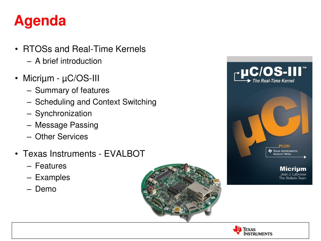 PPT - Stellaris® Robotic Evaluation Board and Micriµm µC/OS-III