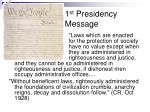 1 st presidency message