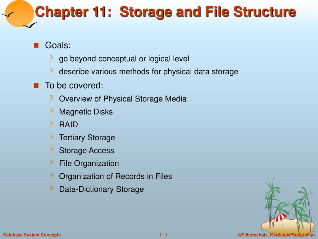 chapter 11 storage and file structure l.