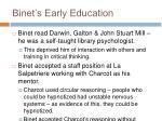 binet s early education
