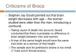 criticisms of broca