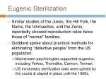 eugenic sterilization