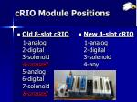 crio module positions