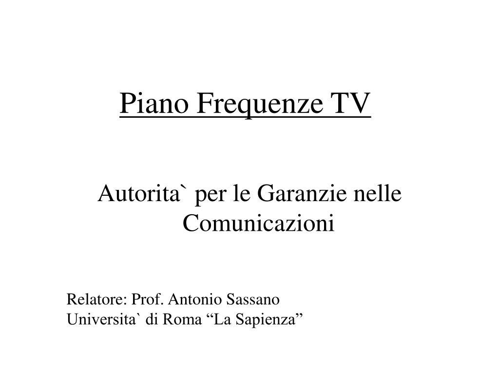 piano frequenze tv l.