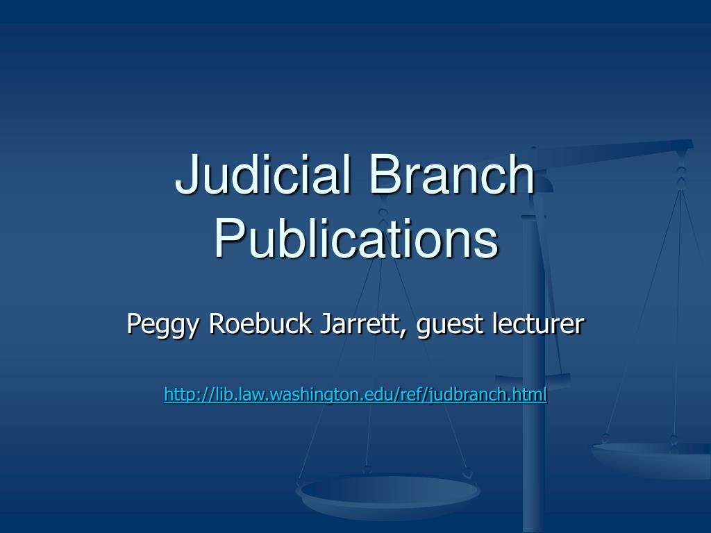judicial branch publications l.