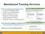blackboard training services