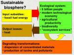 sustainable biosphere