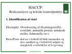 haccp risikoanalyser og kritiske kontrolpunkter