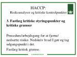 haccp risikoanalyser og kritiske kontrolpunkter10