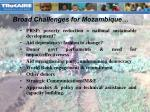 broad challenges for mozambique