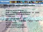 strengths of mozambican process