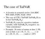the case of tailvar