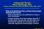 independent review henry homburger m d section of clinical chemistry and medical labs mayo clinic