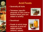 acid foods