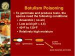 botulism poisoning