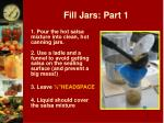 fill jars part 1
