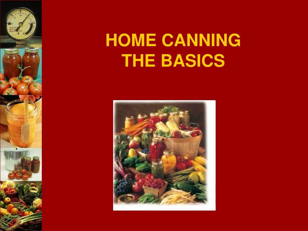 home canning the basics l.