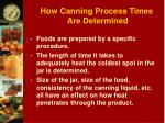 how canning process times are determined