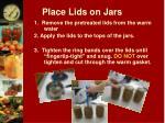 place lids on jars