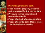 preventing botulism cont