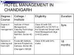 hotel management in chandigarh