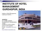 institute of hotel management gurdaspur india