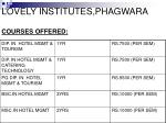 lovely institutes phagwara courses offered