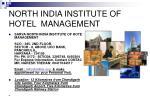 north india institute of hotel management