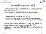 surveillance d activit