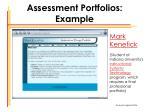 assessment portfolios example