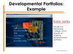 developmental portfolios example