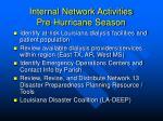 internal network activities pre hurricane season