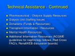technical assistance continued12