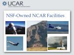 nsf owned ncar facilities