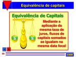 equival ncia de capitais