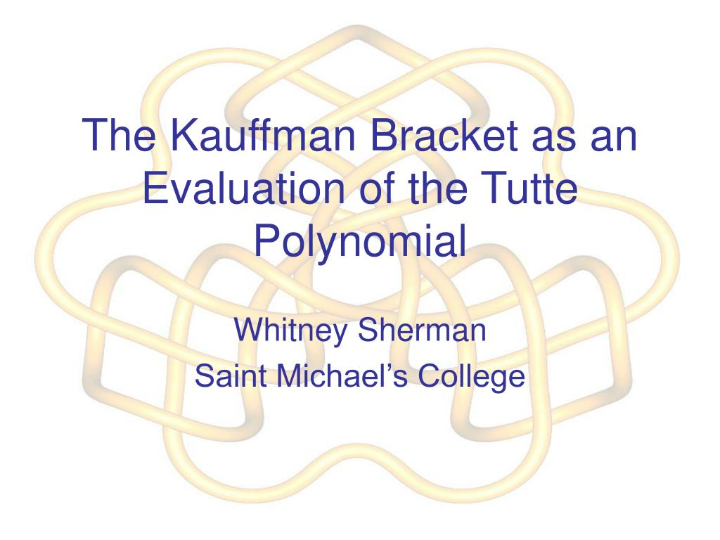the kauffman bracket as an evaluation of the tutte polynomial l.