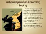 inchon operation chromite sept 15