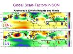 global scale factors in son