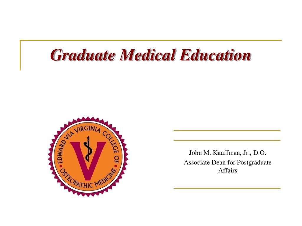 graduate medical education l.
