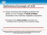 definition concept of icr