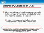 definition concept of ocr