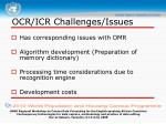 ocr icr challenges issues