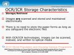 ocr icr storage characteristics