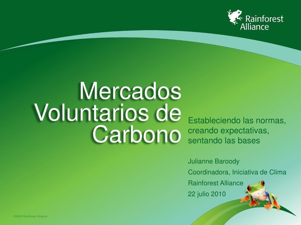 mercados voluntarios de carbono l.