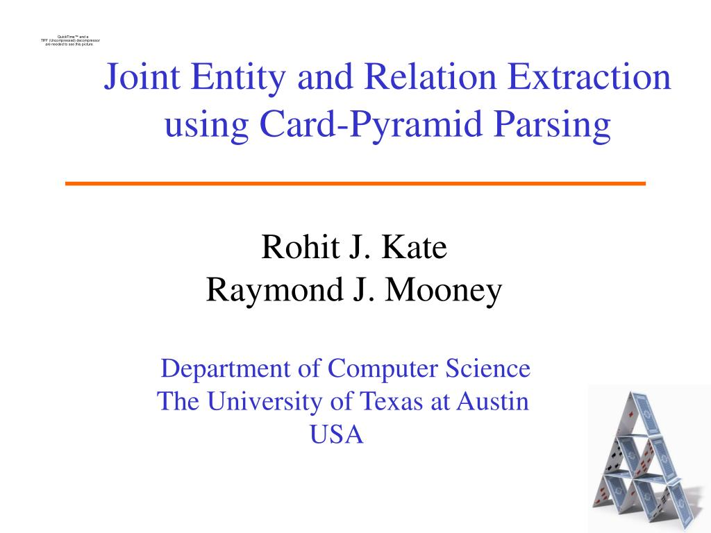 joint entity and relation extraction using card pyramid parsing l.